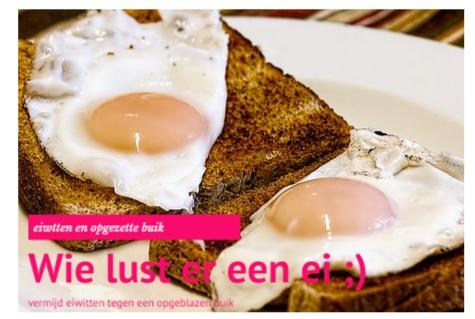 Opgezette buik verhelpen door eiwitarm dieet